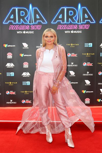 Singer Alli Simpson at the 2017 ARIA Awards
