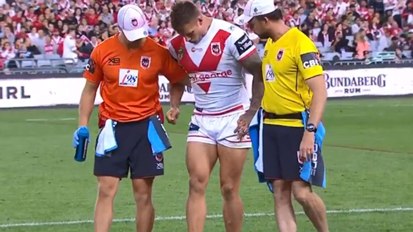 Phil Gould calls Tariq Sims injury the turning point in Dragons' semi-final loss to Rabbitohs