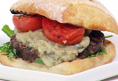 Gourmet kangeroo burger