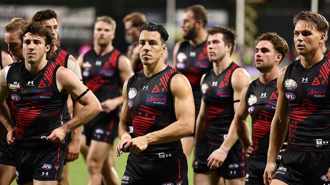Dylan Shiel, Andrew McGrath, Zach Merrett, Essendon Bombers