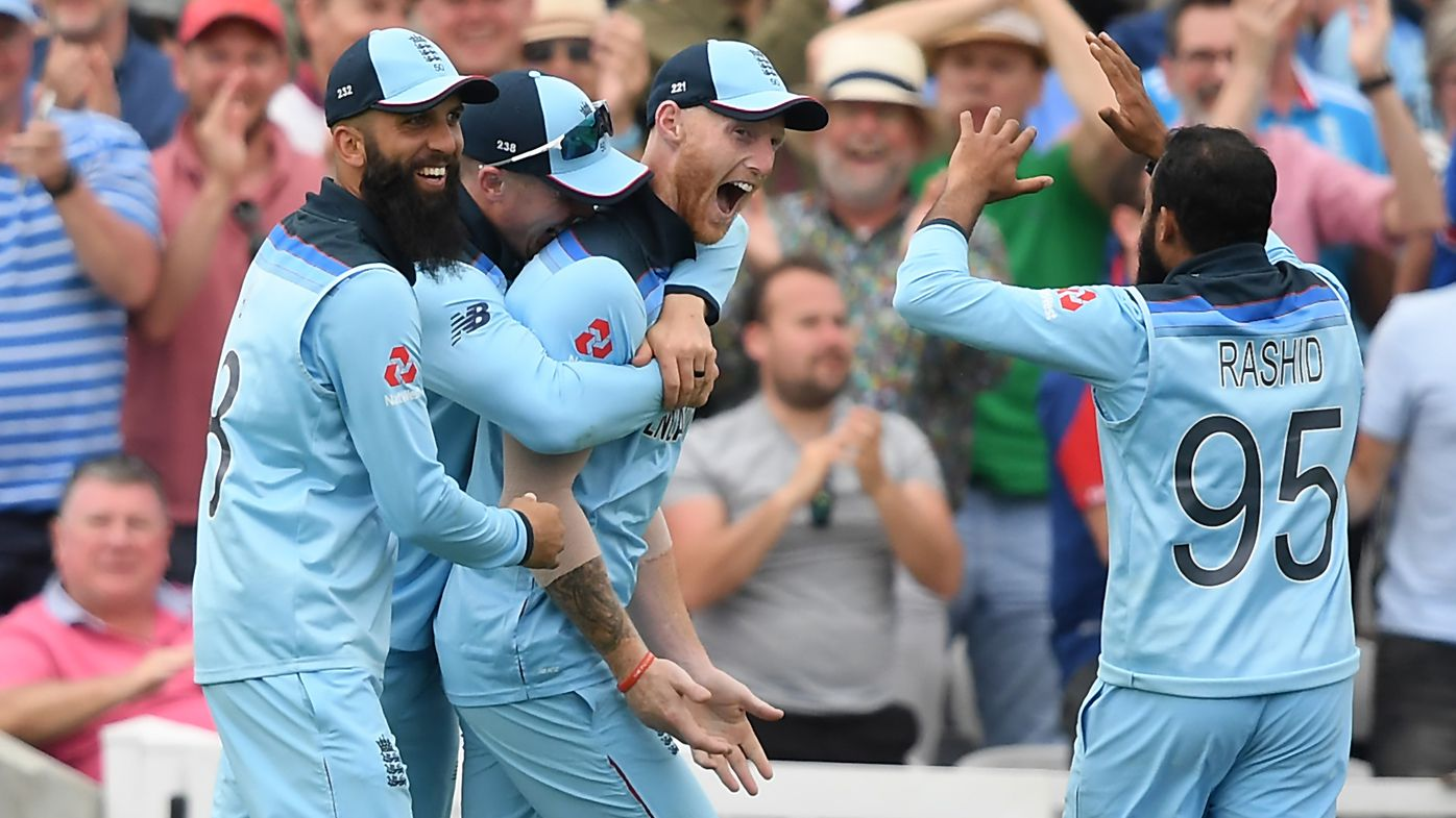 Ben Stokes pulls off spectacular catch in Cricket World Cup opener