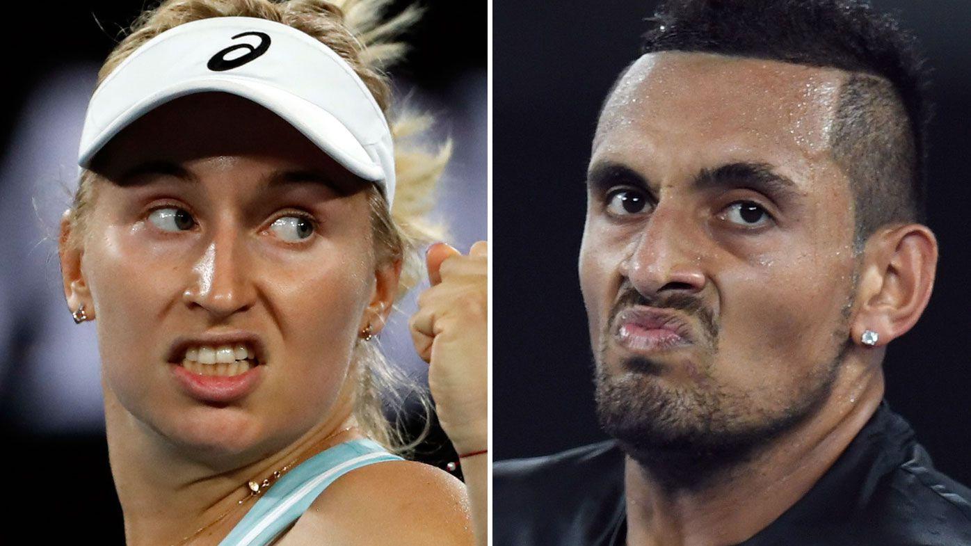 Daria Gavrilova and Nick Kyrgios.