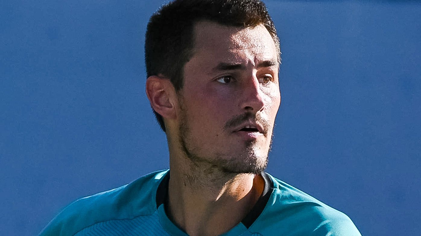 Bernard Tomic is two wins away from a 2021 Australian Open berth. (Getty)