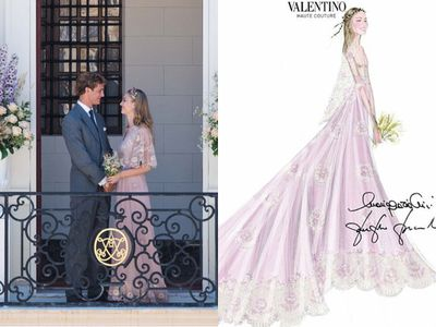 <p><strong>Who: </strong>Italian heiress Beatrice Borromeo married Monaco royal Pierre Casiraghi<br /><strong>Where:</strong> The pair had a civil service at the Salon des Glaces in Monaco's Pink Palace followed a week later by a religious ceremony in the bride's native Borromean Islands.<br /><strong>Dress number one:</strong>&nbsp;Valentino Couture</p>