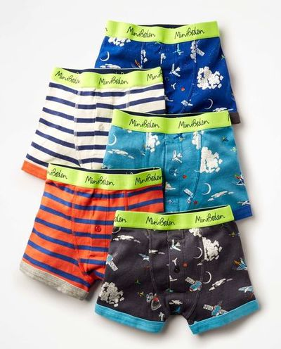 """<p>Kids have to wear uniforms - but underneath? Well, that's up to you.</p> <p><a href=""""http://www.bodenclothing.com.au/en-au/boys-accessories/c0150-mul/boys-outer-space-5-pack-boxers"""" target=""""_blank"""">Boden 5 Pack Boxers, $52.</a></p>"""