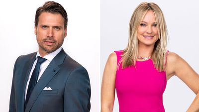 Nick Newman (Josh Morrow) and Sharon Newman (Sharon Case)