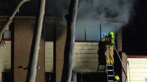 Fire crews managed to extinguish the blaze at the home in Sydney's west. (9NEWS)