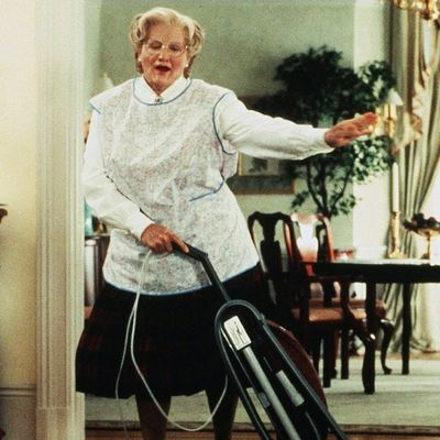 Robin Williams as Daniel Hillard/Mrs. Doubtfire: Then