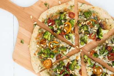 <strong>Dinner: Broccoli pizza</strong>
