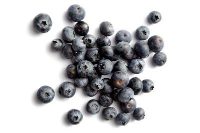 Whole blueberries: 10g sugar per 100g