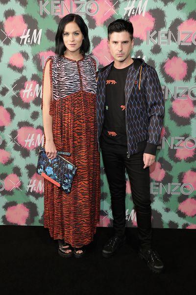 Leigh Lezark and Gerdon Nicol at H&M x Kenzo