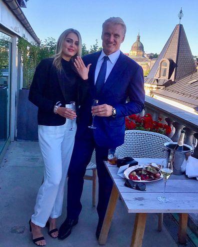 Dolph Lundgren, Emma Krokdal, engaged