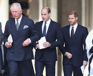 Charles William and Harry