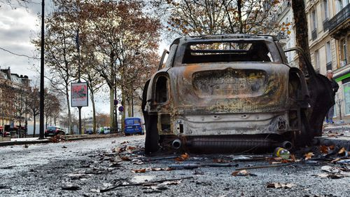 Last weekend, more than 130 people were injured and 412 arrested in rioting in the French capital.