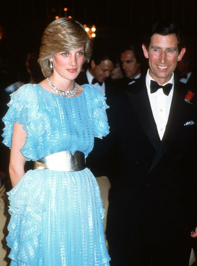 Charles and Diana at Gala dinner and dance at the Wentworth Hotel on March 28, 1983 in Sydney.