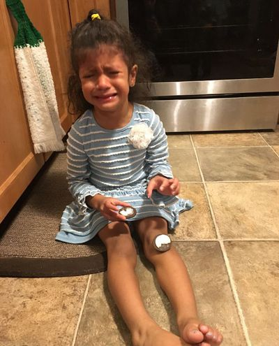 Reasons My Son Is Crying is a LOL Facebook page where parents submit hilarious reasons their kids are crying. This little girl is crying because: 'There was frosting on both sides of her Oreo.""