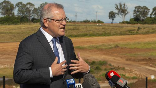 Prime Minister Scott Morrison today. (Photo: Jenny Evans/Getty Images)