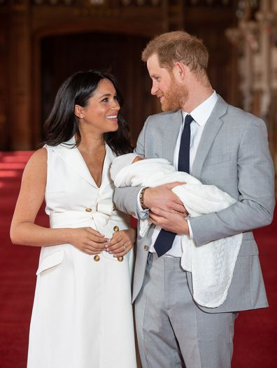 Harry and Meghan with Archie.