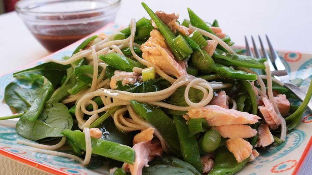 Salmon and soba noodle salad