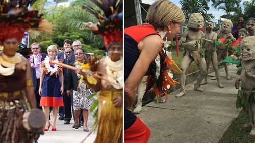 Foreign Minister Julie Bishop at opening of the Pacific Leadership & Governance Precinct buildings in PNG. (Instagram)