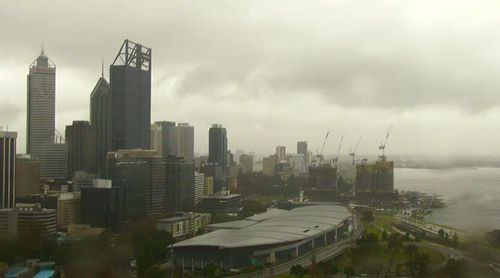 Perth is expected to receive 20 to 35mm of rain today.