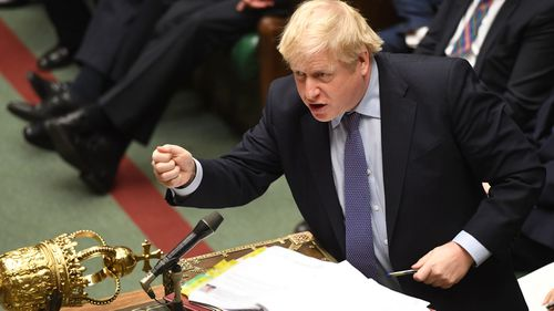 Prime Minister Boris Johnson during Prime Minister's Questions in the House of Commons, London.. Picture date: Wednesday February 26, 2020.