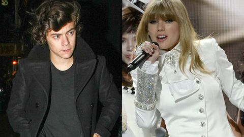 Harry leaving a nightclub in London over the weekend / Taylor performing at the Grammy Awards last week