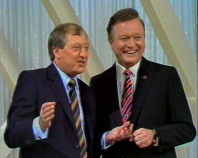 Bert Newton and Graham Kennedy on Graham Kennedy's Channel 9 Show.