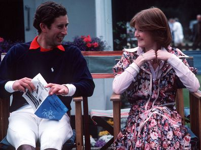Prince Charles and Lady Sarah Spencer in 1977.