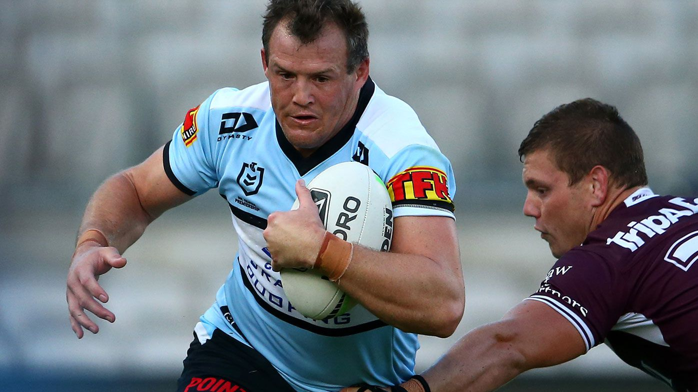Josh Morris stars for the Sharks in their NRL trial against Manly (Getty)