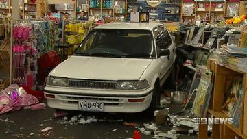 VIDEO: Car ploughs through Port Adelaide shopfront
