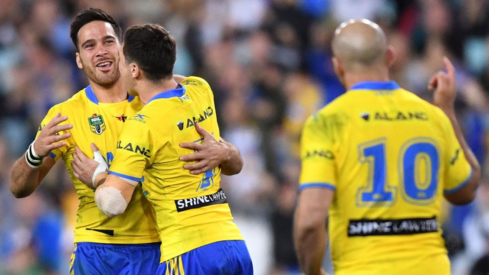 Parramatta Eels' Mitchell Moses sets up NRL winner over Wests Tigers at ANZ Stadium