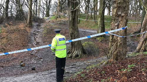 File photo dated 04/04/2018 of police at the scene in a field near George Street in Heywood, Greater Manchester, where the body of a newborn baby was found. (AAP)