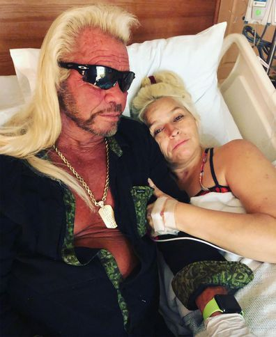 Dog the Bounty Hunter, Beth Chapman, hospital bed, Instagram photo