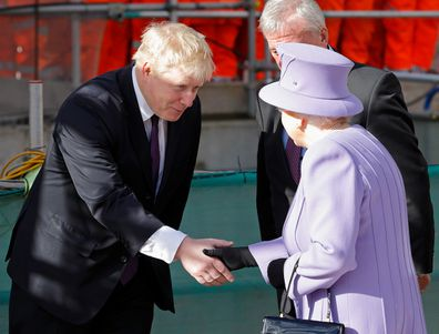 Boris Johnson meets the Queen in 2016 when he was Lord Mayor of London.