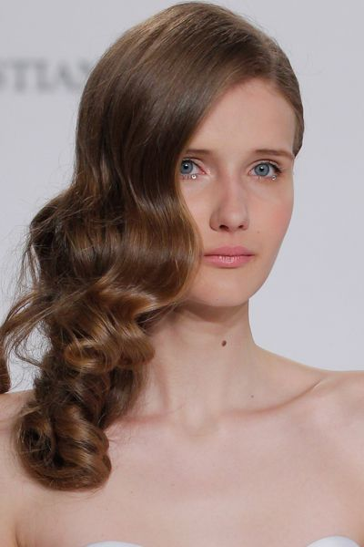 A timeless classic: sideswept waves were the look at Christian Siriano.