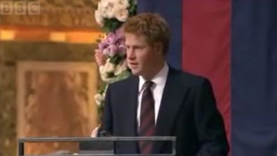 9RAW: Prince Harry's touching tribute to his mother Diana