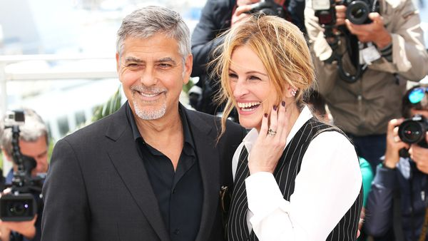 George Clooney and Julia Roberts at Cannes Film Festival in 2016. Image: Getty