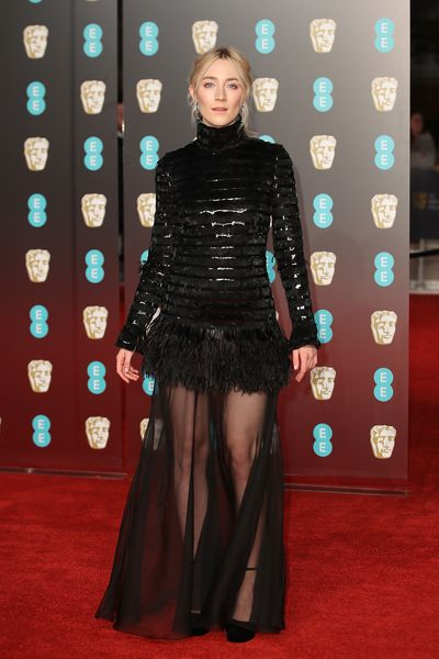 Saoirse Ronan in Chanel at the British Academy Film Awards (BAFTAs)