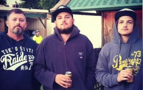 Layne Harvey and his sons Jakeb and Curtis were killed when a generator malfunctioned. Image: Facebook
