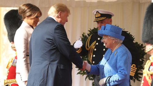 The visit comes shortly after Mr Trump attacked CNN, NBC News and the British tabloid The Sun on his trip to Britain. Picture: AP