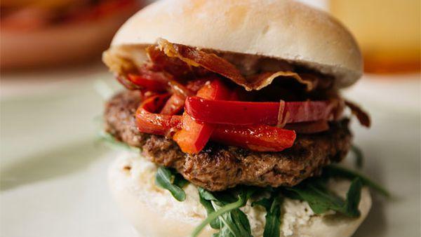 Liliana Battle's ultimate Italian-style burger