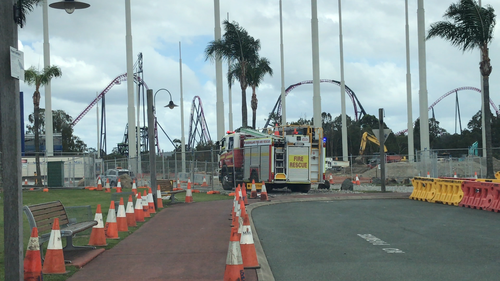 Emergency crews were called to Movieworld earlier this morning.