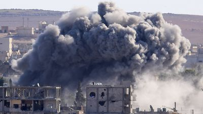 The British-based observatory says 32 civilians have also been killed, including six children and five women.