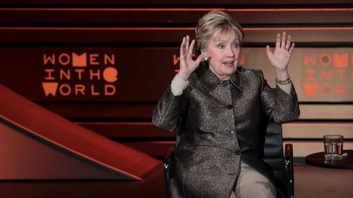 """""""Certainly misogyny played a role,"""" Mrs Clinton told the crowd. (Getty Images)"""