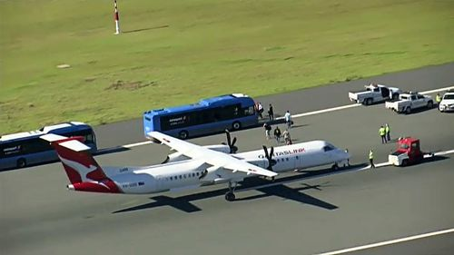 """Qantas flight QF2420 landed at Brisbane Airport this morning following a """"potential issue with the landing gear."""""""