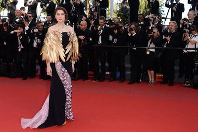 The usually glam French model-turned-actress ruffled some feathers with this frock. It looks like she is about to take flight!