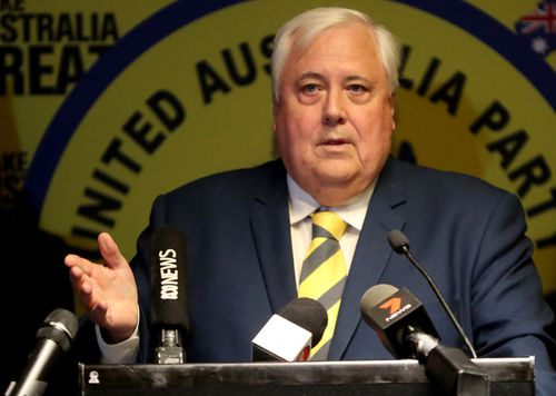 Clive Palmer looks set to miss out on a Senate seat.