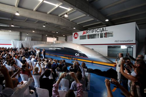 Hyperloop: First glimpse of the future of travel as Quintero One is unveiled in Spain