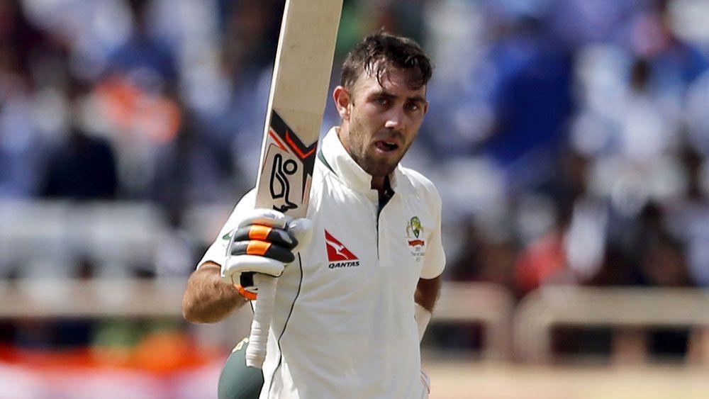 Glenn Maxwell scored his maiden Test century for Australia.  (AAP)